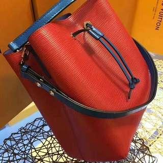 🚚 LV復刻水桶包 紅色藍色相間 高端製作