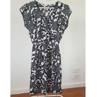 Koton Black & White Floral Dress