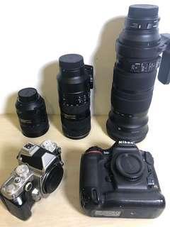 Nikon D4S, Df, 70-200mm, 28-300mm, sigma 120-300mm +TC1.4