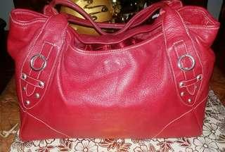 AUTHENTIC FURLA TOTE in RED