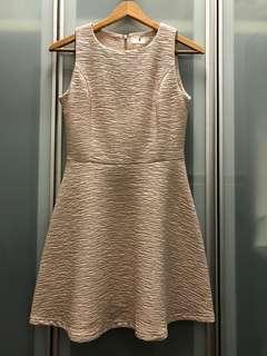 Nude Textured skater dress
