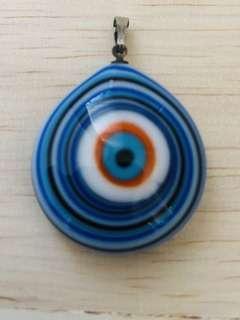 🎉Evil Eyes or Cat Eyes or Lucky Eyes import From Turkey 🇹🇷 pendant colour dark blue