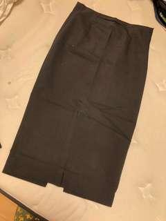 Zara Black midi skirt