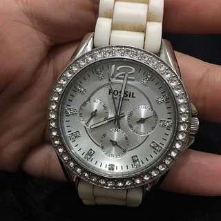 Fossil ES 2344 White Watch