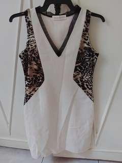 Offwhite shift dress