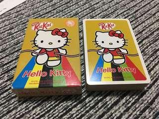 Hello Kitty KitKat playing cards. Rare!