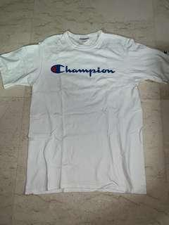 (Steal) Used Champion White Embroided Logo Tee