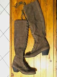 JEFFREY CAMPBELL Genuine Leather BOOTS Knee-High