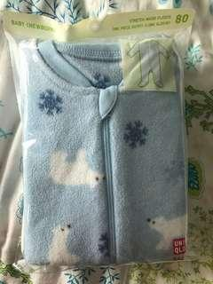 Uniqlo baby 厚連身衣 Size 80