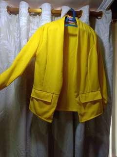 Jas / outer / blazer kuning