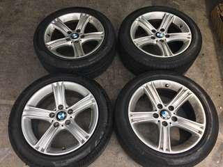 "Original BMW 17"" Rims w/ Run-Flat Pirelli Cinturato P7 Tyres"