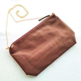 Parfois PU Leather Chain Shoulder Bag