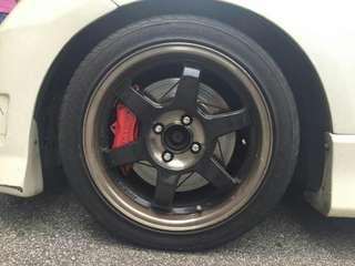 "Selling 16"" Rota Rims With Option Rotor Brake Kit"