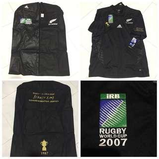cae986d7fb0 Adidas All Black 2007 Rugby World Cup 2007 France Commemorative Jersey