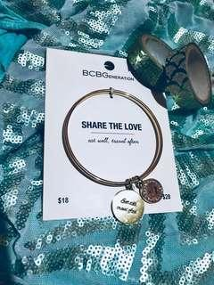 💛50% OFF! BCBGeneration Eat Well, Travel Often Handwritten Script Bracelet - Gold Designer Bangle with Engraved Coin Charms - Inspirational Message Circlet with Rhinestones in Gold