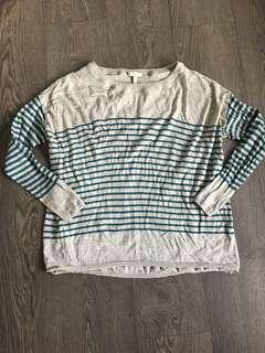 Joie striped cashmere blend sweater size small