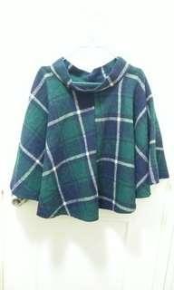 $30綠色格仔冬天裙