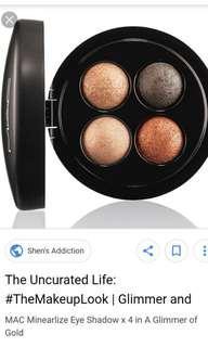 BN MAC A Glimmer of Gold Eyeshadow Palette