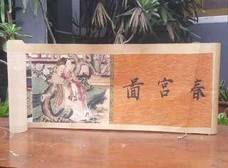 Lukisan roll kertas antik cina nude motif langka
