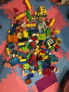 LEGO Duplo with mix of Megablocks, Peppa blocks etc