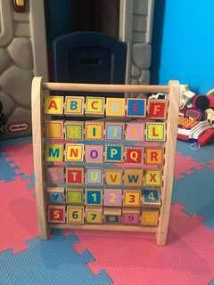 Hape Educational Alphabet Number Wooden toy