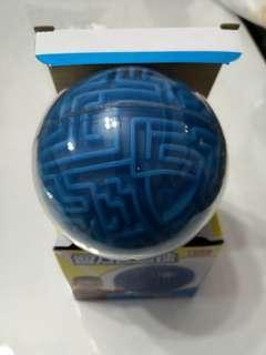Blue round 3D maze 9.5cm - Hard