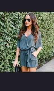 Romper with Pocket (Peacock Blue)