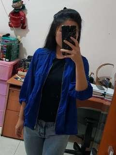 Blue jacket outer