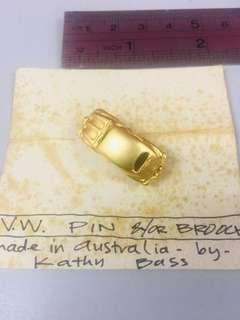 Volkswagen pin& or broach gold rare