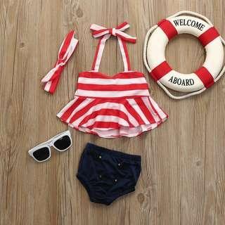 🚚 Baby Girls Bikini Swimsuit