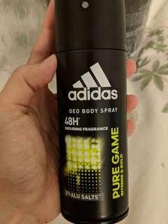 Adidas Deo Body Spray PURE GAME Intense & Bold