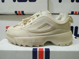 Sepatu Fila Disruptor 20 Full Cream Vanila High quality