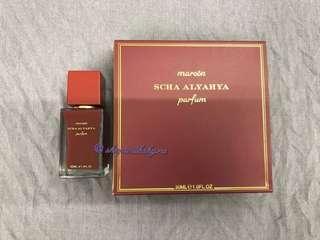 Maroon Parfum by Scha Alyahya. 30ml.