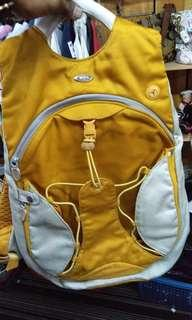 Tumi yellow backpack