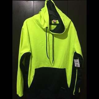 JACKEROO Yellow Fluoro Hoodie Jacket (Highly Reflective)