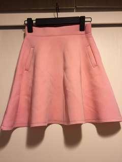 粉紅色半截裙 pink skirt baby pink