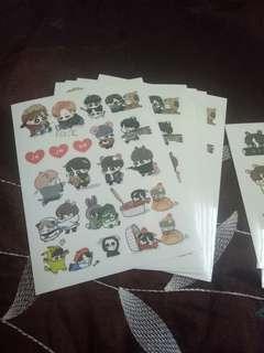 BTS Jikook Fanart Stickers