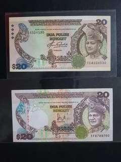 马币旧钞$20块