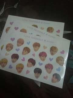 BTS LY Answer Sticker Official
