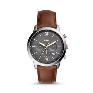 Fossil Neutra Chronograph Light Brown Leather Watch