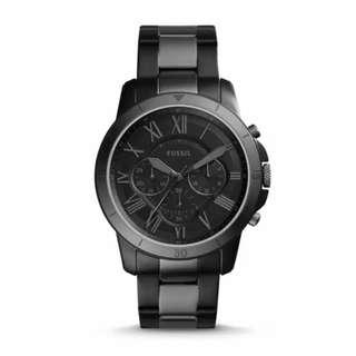 Fossil Grant Black Dial Men's Two-Tone Chronograph Watch