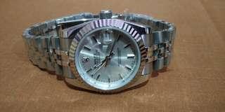 Rolex Date Just silver/white gold clone 1:1