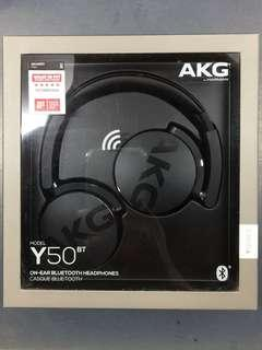 BNIB Y50BT AKG WIRELESS BLUETOOTH HEADPHONE
