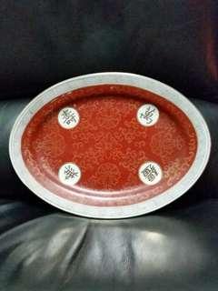 Vintage Large Oriental Porcelain Plate (萬寿无疆瓷盘)