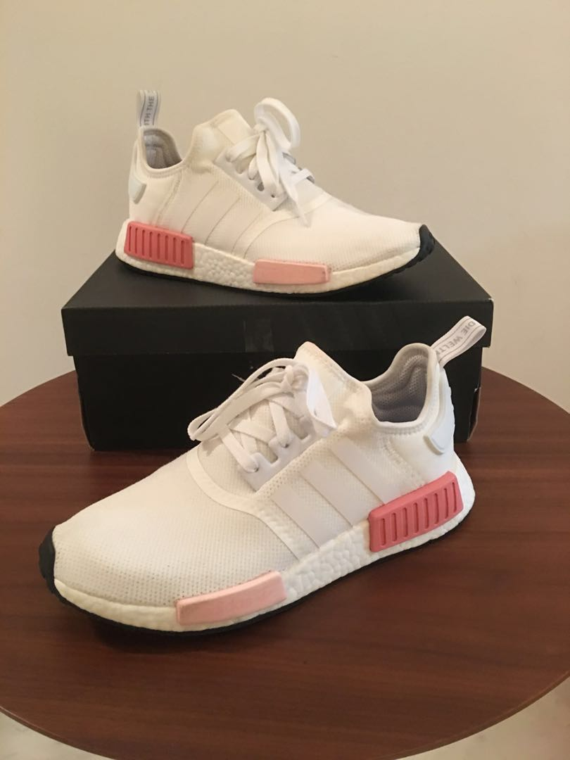5f042b55c4aa3 Adidas Originals NMD R1 White and Pink