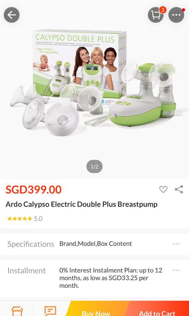 Ardo Calypso Double Plus Breast Pump Babies Kids Nursing