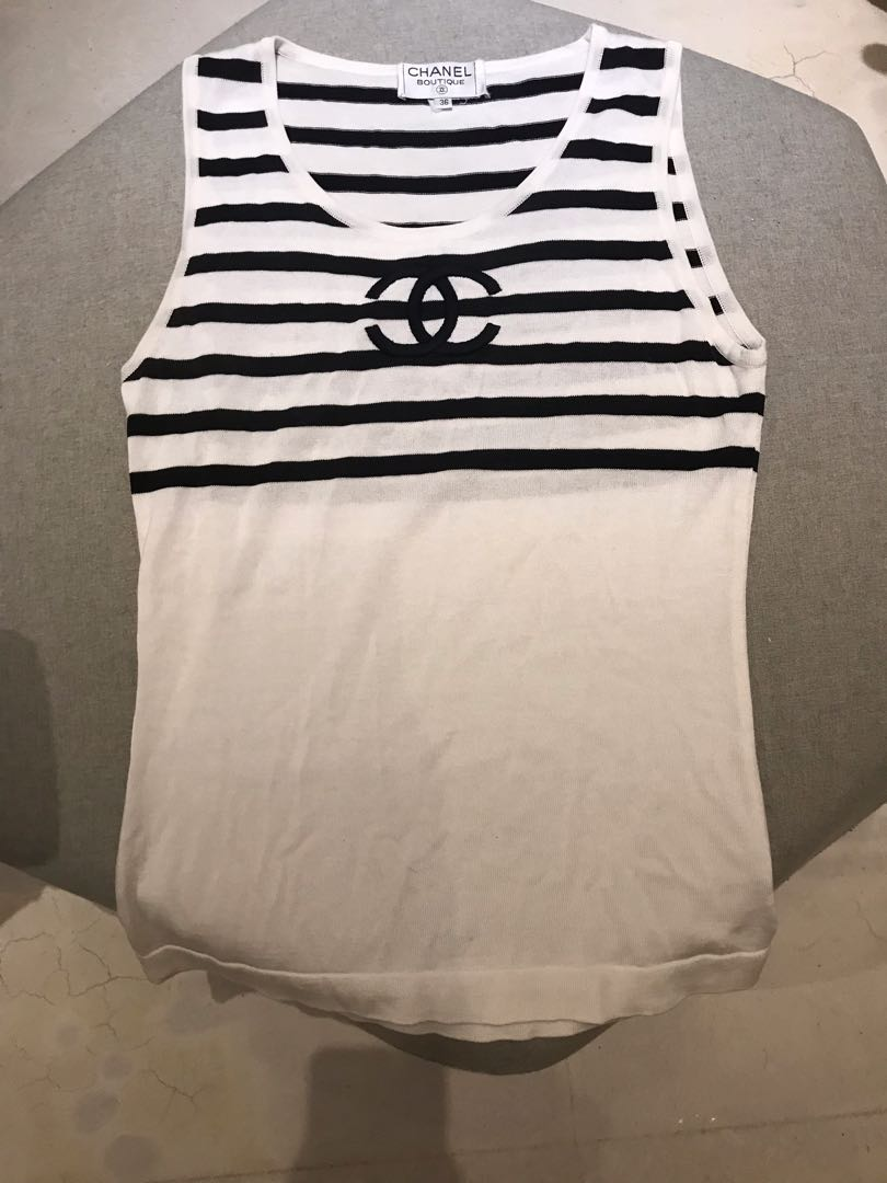 1a7a0ec1fa78db Authentic Chanel Knit tank