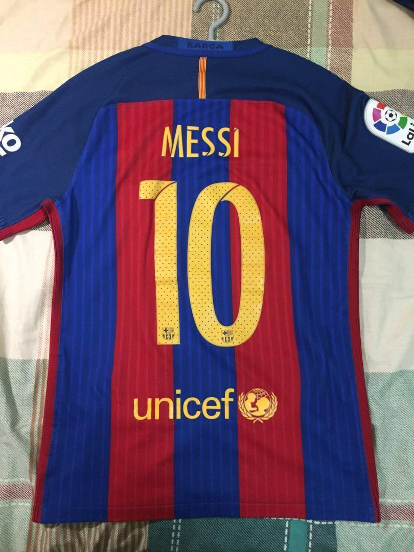 100% authentic 683f7 32cc3 Authentic FC Barcelona 2016/2017 Home Aeroswift Jersey and ...