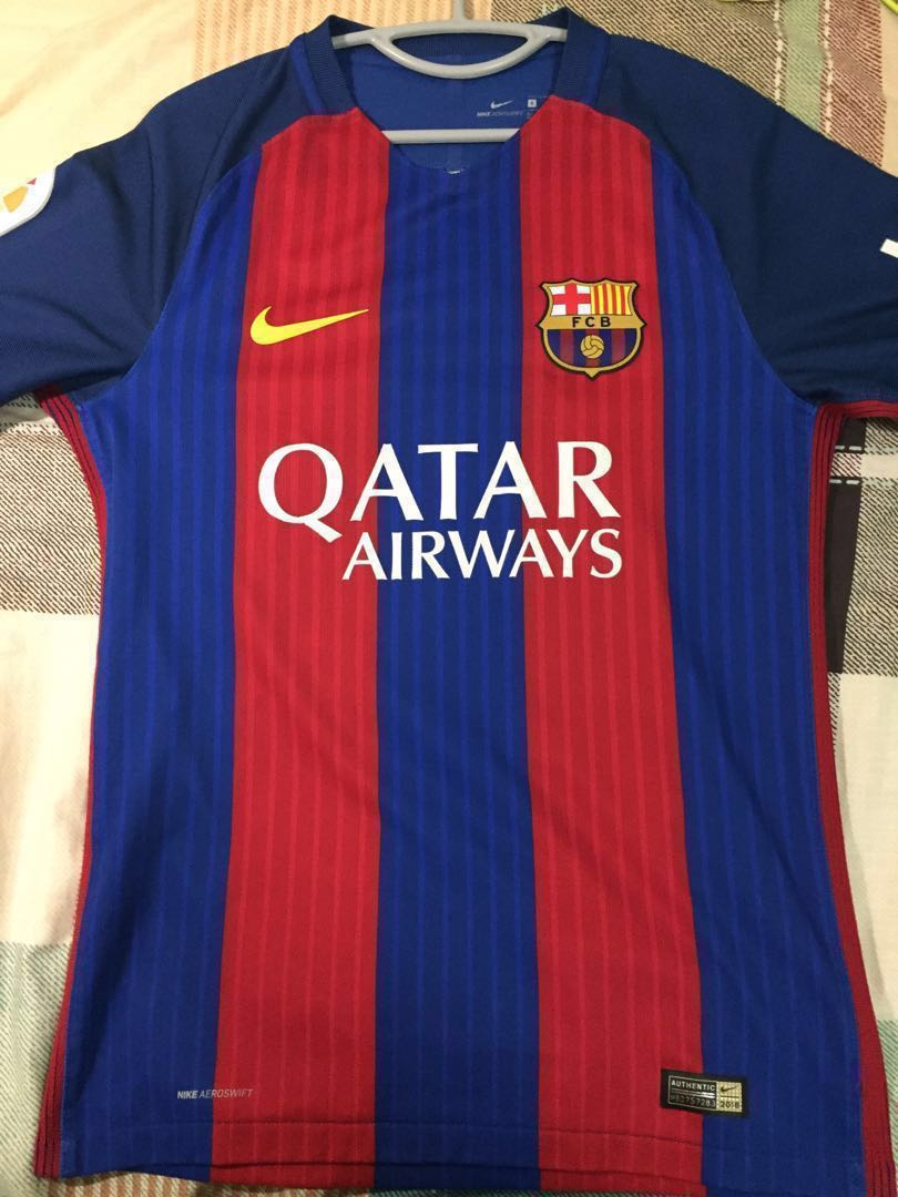 fedc5a8e6 Authentic FC Barcelona 2016 2017 Home Aeroswift Jersey and Short Messi 10  (S)