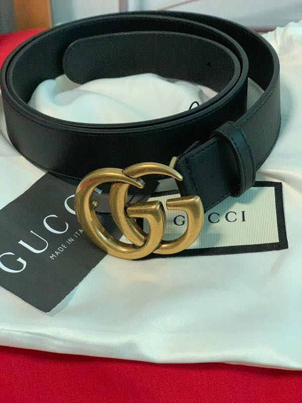 d5614382a19 Authentic Gucci Belt Double G (3cm